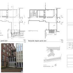 Design proposal for new entrance for theological facilitiy in Belgium